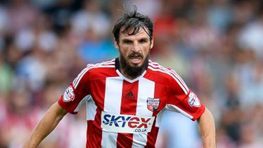 Jonathan Douglas joined Brentford from Swindon in 2011