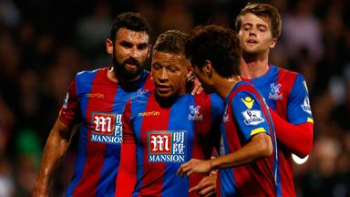 Dwight Gayle (centre) has forced himself back into manager Alan Pardew