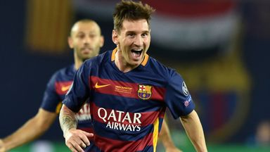 Lionel Messi scoops the 2014-15 UEFA Best Player in Europe award