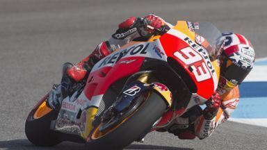 Marc Marquez smashed record in taking pole