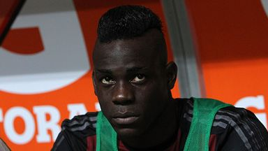Mario Balotelli watched from the bench as AC Milan won without him