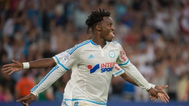 Marseille's Belgian forward Michy Batshuayi scored twice
