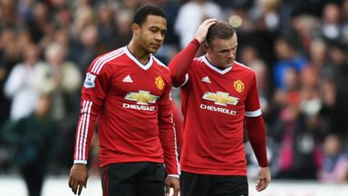 Wayne Rooney (right) and Memphis Depay suffered defeat against Swansea