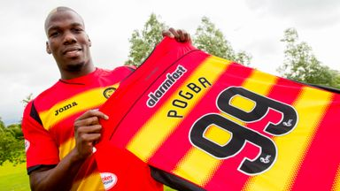Mathias Pogba is unveiled as Partick Thistle's newest addition.