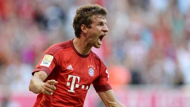 Thomas Muller scored twice as Bayern Munich eased past Bayer Leverkusen