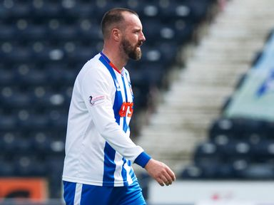 A dejected Kris Boyd marches off at full-time