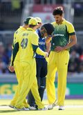 Mitchell Starc and Steve Smith show concern for Eoin Morgan