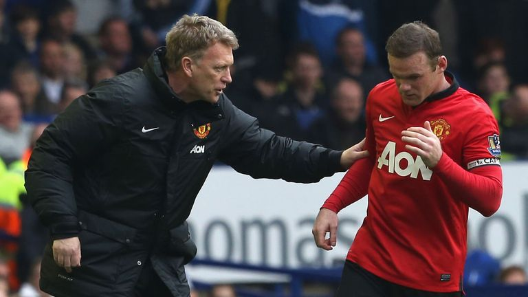 David Moyes (L) endured a miserable 11-month stint as United boss