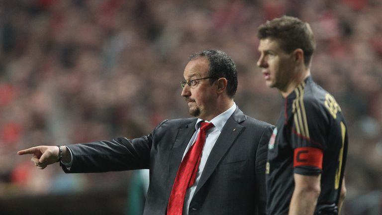 Steven Gerrard (right) can see Rafael Benitez returning to the Premier League