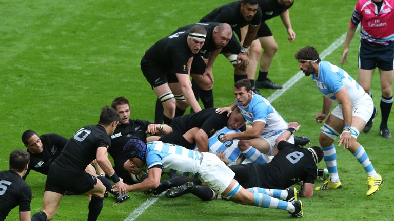 Guido Petti Pagadizabal was forced off injured after scoring Argentina's only try