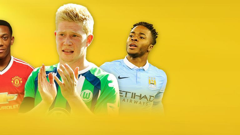 Kevin De Bruyne, Raheem Sterling and Anthony Martial are among the Premier League's most expensive signings
