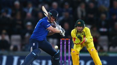Eoin Morgan of England in action during the 1st Royal London One-Day International match between England and Australia