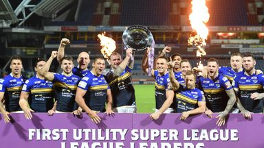 Leeds lift the League Leaders' Shield after victory at Huddersfield