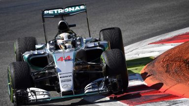 Lewis Hamilton made it three from three in Italian GP practice