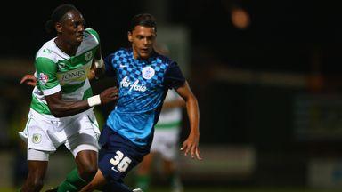 Tyler Blackwood (right): Newport loan