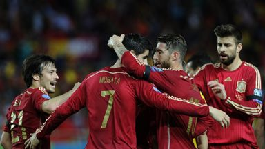 Spain could move top of Group C with victory over Slovakia.