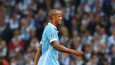 Vincent Kompany is substituted against Juventus