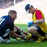 Finn Russell (left) is back in the line-up after missing the clash against South Africa