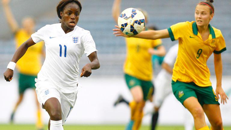 Eniola Aluko has scored 33 goals in 102 England appearances
