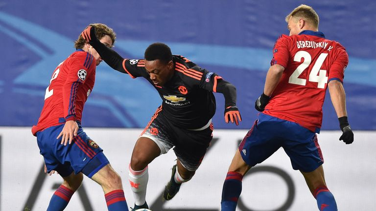 Martial had up and down night in Moscow for United