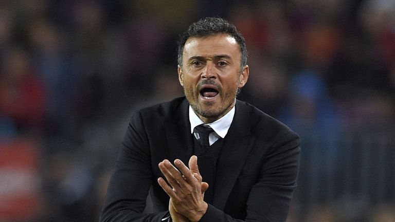 Barcelona coach Luis Enrique is preparing his side to face Arsenal