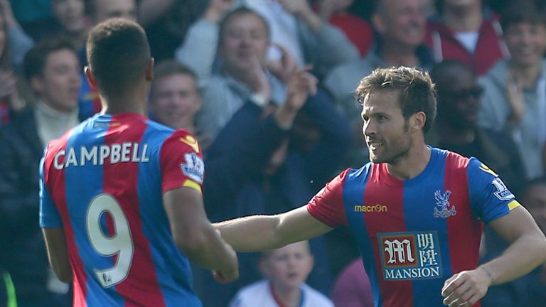 Could Yohan Cabaye (right) help Crystal Palace qualify for Europe?