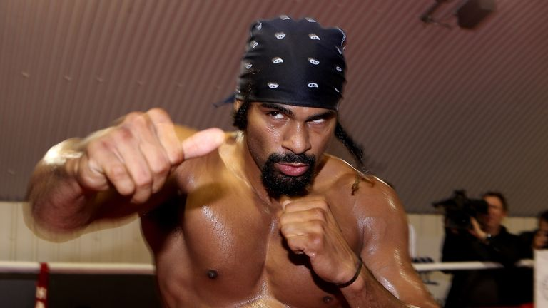 David Haye hasn't boxed in three years