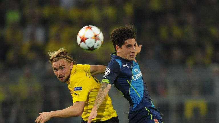Bellerin endured a tough time against Borussia Dortmund in the Champions League