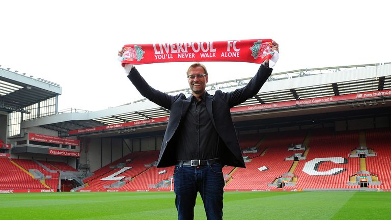 Klopp replaces Brendan Rodgers, who was sacked following a poor start to the season at Anfield.