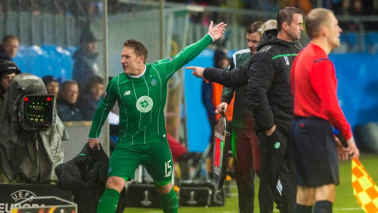 Kris Commons reacted furiously to being substituted during Celtic's 3-1 Europa League loss to Molde