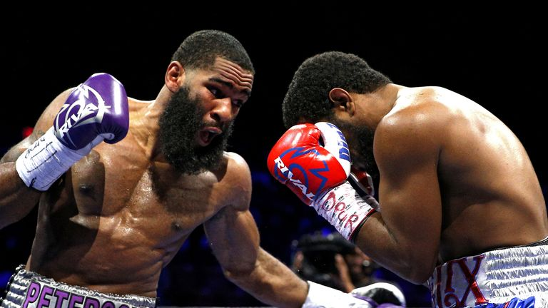 Lamont Peterson (left) is the current WBA world welterweight champion