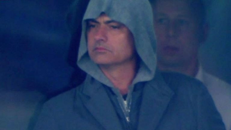 Chelsea boss Jose Mourinho was spotted in Kiev last week by the Sky Sports cameras