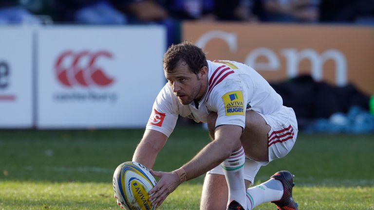 Nick Evans of Harlequins who kicked 28 points against Bath