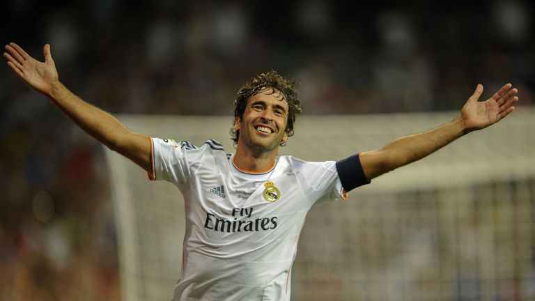 Raul fired Real Madrid to three Champions Leagues in a trophy-laden 16-year spell at the Bernabeu