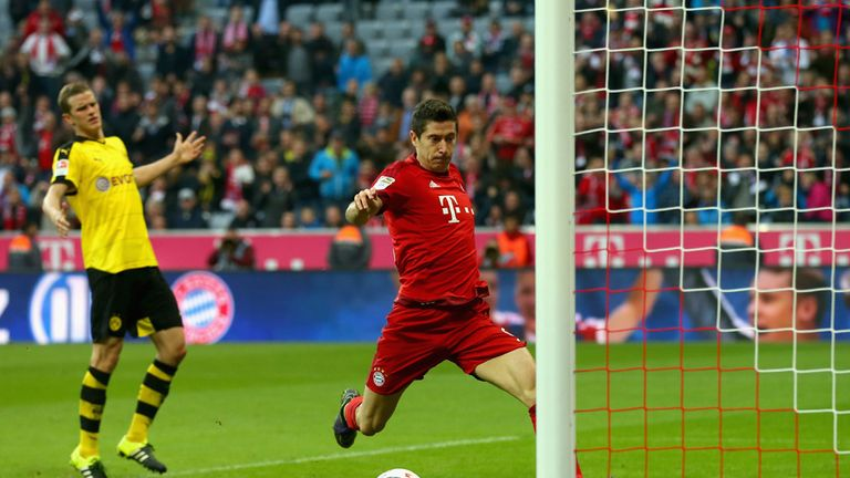 Robert Lewandowski moved from Borussia Dortmund to Bayern Munich on a Bosman in 2014
