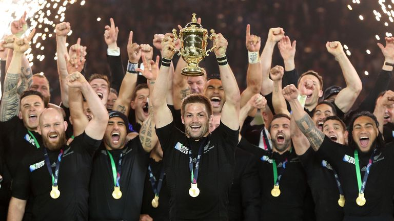 The All Blacks will defend their title in Japan in 2019