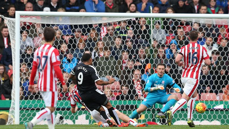 Watford beat Stoke 2-0 at the Britannia earlier in the season