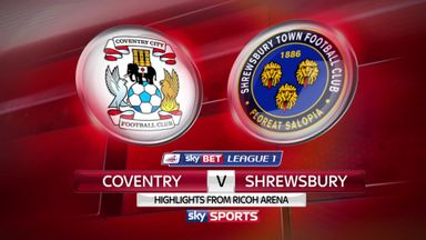 Coventry 3-0 Shrewsbury