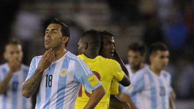 Carlos Tevez could not help Argentina's cause against Ecuador