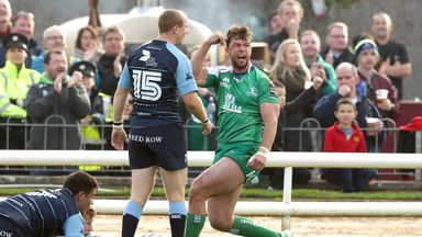Danie Poolman's try helped Connacht to a 19-17 first half win.