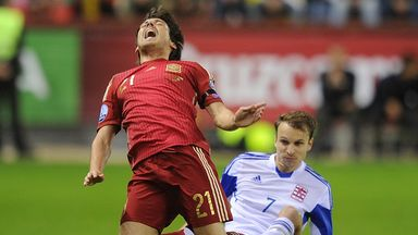 David Silva's game didn't last long, but Spain progressed to Euro 2016 on the night