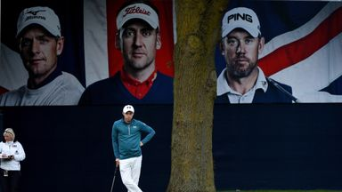The next generation? Matthew Fitzpatrick on his way to the first-round lead at the British Masters