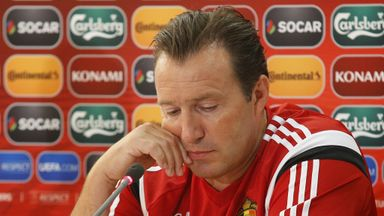 Marc Wilmots' side are currently second to Wales in Group B