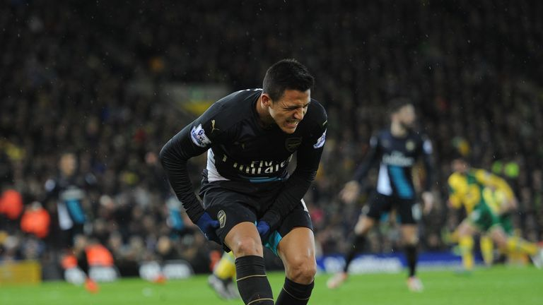 Sanchez injured his hamstring in Arsenal's 1-1 draw with Norwich