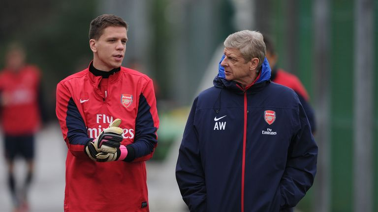 Szczesny spent eight years with Arsenal