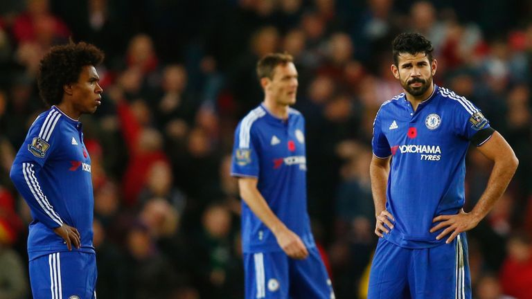 Willian (L) describes team-mate Diego Costa as the practical joker behind the scenes at Chelsea