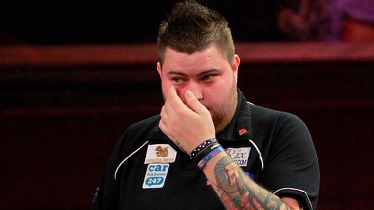 Debutant Michael Smith has received valuable words of advice from Anderson
