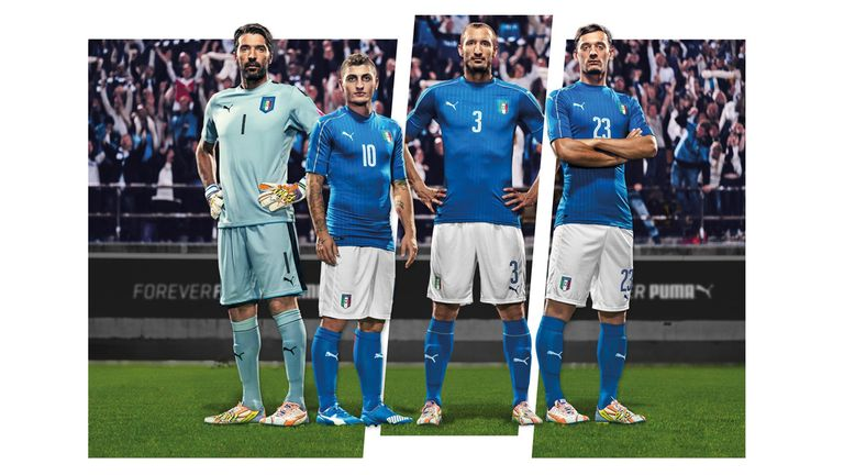 Italy will wear their classic azure shirts at Euro 2016, again produced by Puma