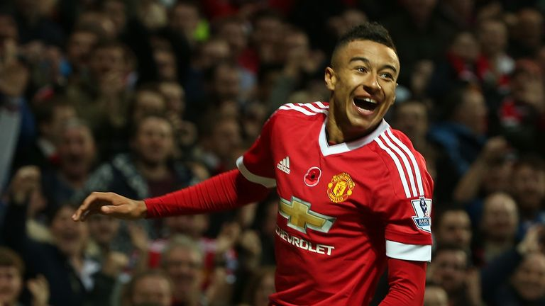 Lingard scored his first goal for United against West Brom