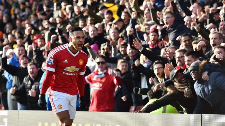 Memphis' last Premier League goal came in December's victory at Watford